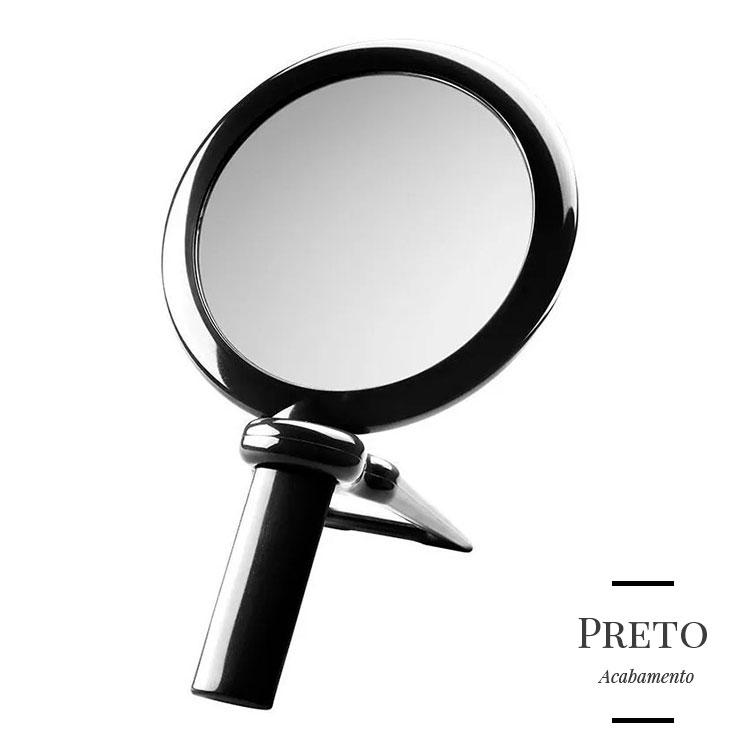 Espelho de Mão/Mesa Beauté com Aumento de 5x para Maquiagem