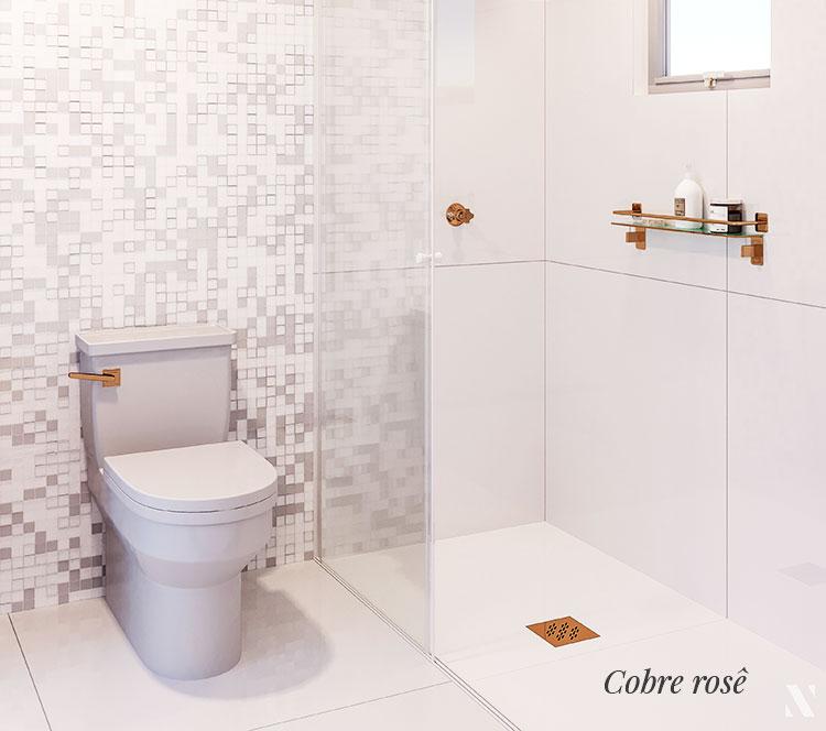 Grelha Quadrada para Caixa Sifonada de Banheiro