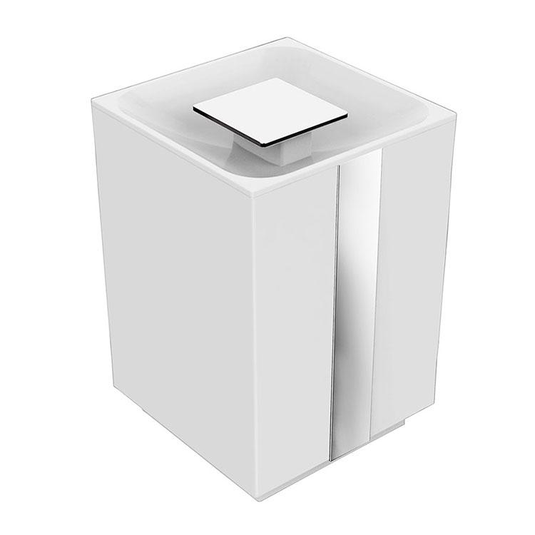 Lixeira de Chão 5 Litros Be/One/Soul/Spirit para Banheiros e Lavabos