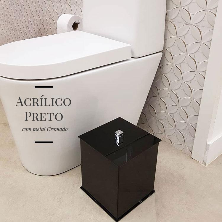 Lixeira de Chão Duo para Bancadas de Banheiros e Lavabos