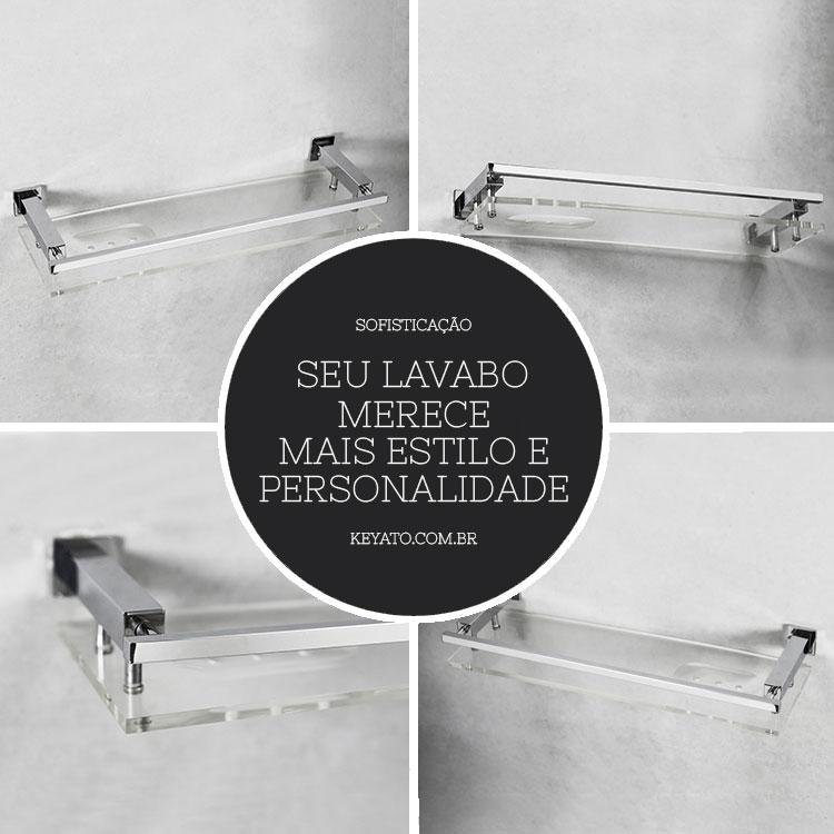 Porta Shampoo 4002 para Banheiros e Lavabos