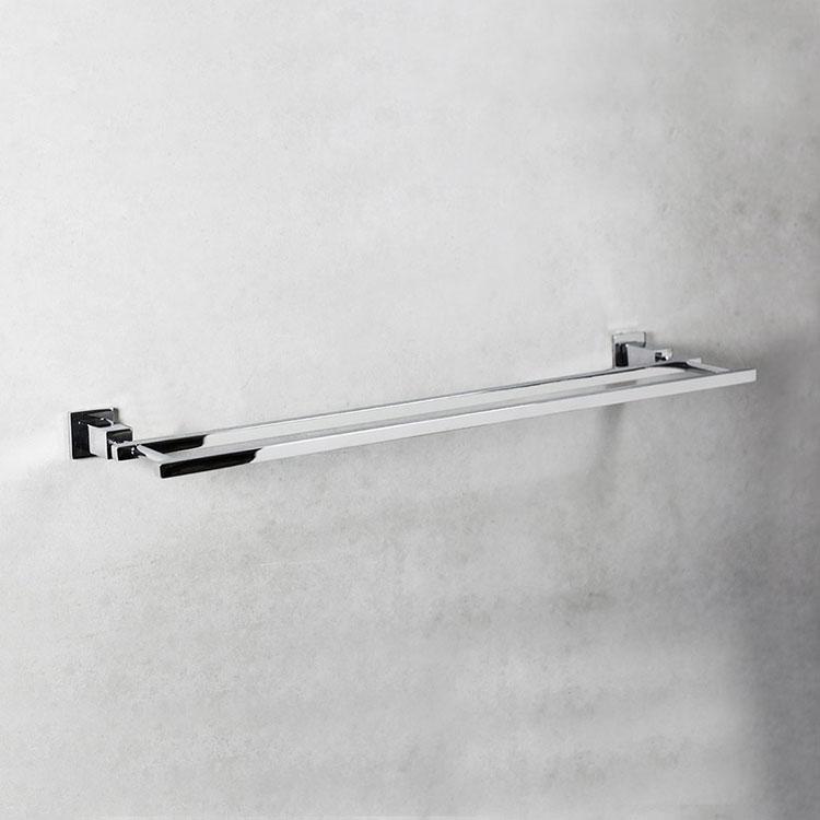 Porta Toalha Duplo 4002 com 60cm para Banheiros e Lavabos
