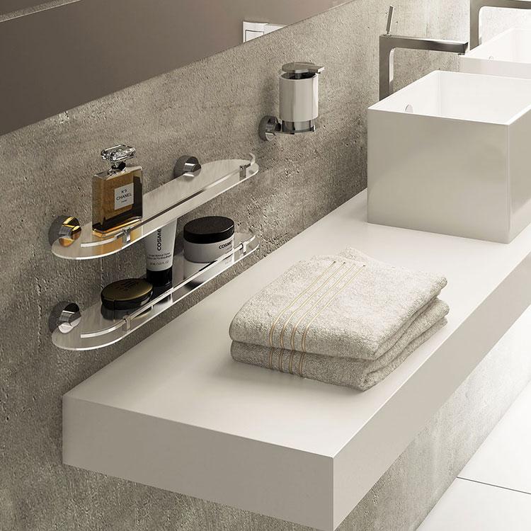 Prateleira em Inox Anello para Banheiros e Lavabos