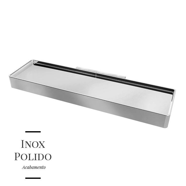 Prateleira em Inox Soul para Banheiros e Lavabos