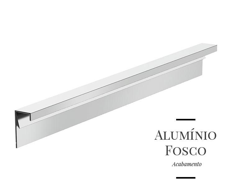 Puxador Milano em Alumínio Fosco para Gavetas e Armários
