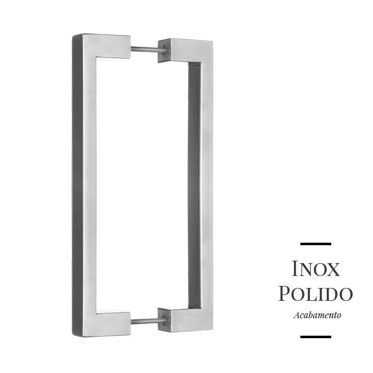 Puxador de Porta 321 em Inox 304 Duplo (par)