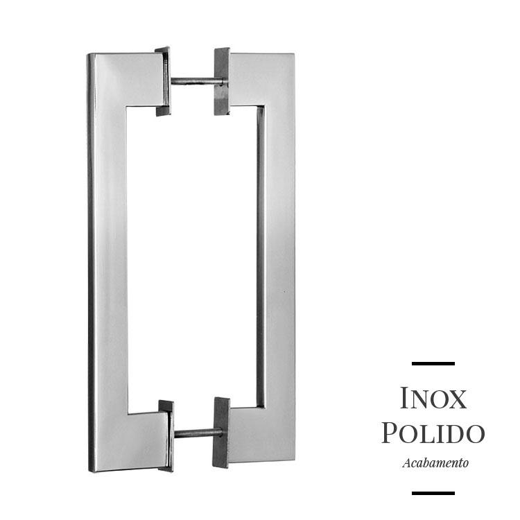 Puxador de Porta 322 em Inox 304 Duplo (2 peças)