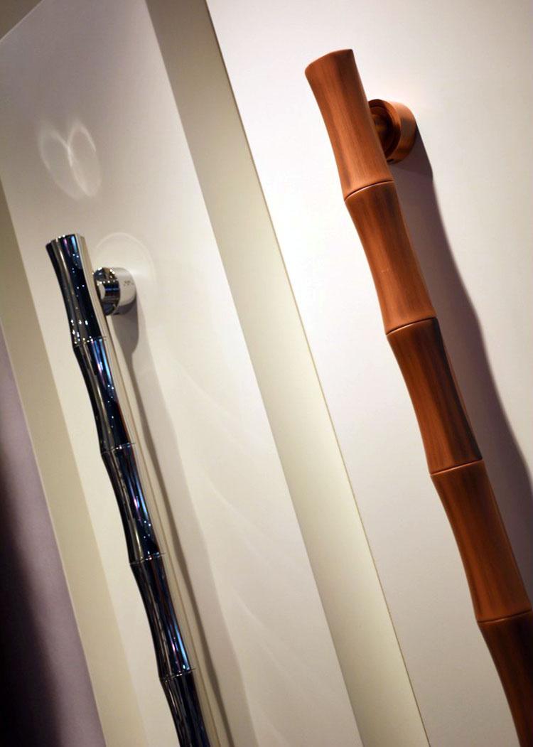 Puxador de Porta Anello Bambu Duplo (par)