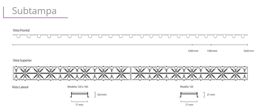 Ralo Linear Elleve - linha Infinity (Tampa Oculta)