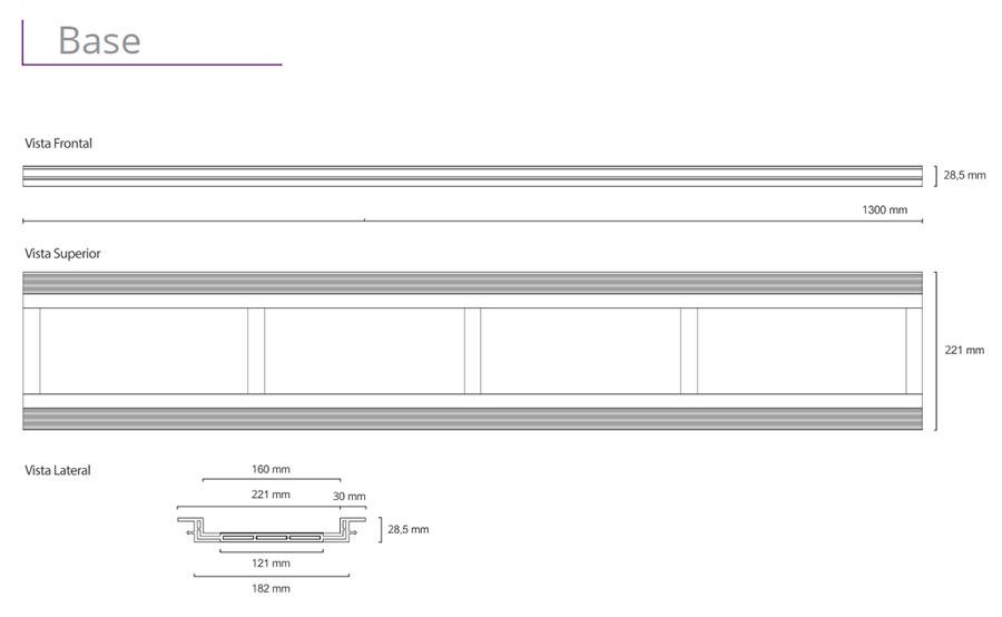 Ralo Linear Elleve - linha Infinity Plus