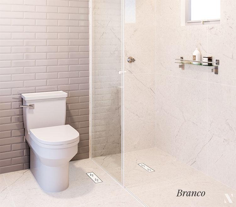 Ralo Linear Banheiro Novii 25cm PVC