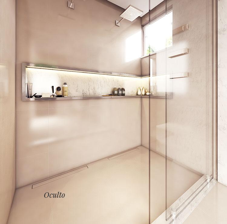 Ralo Linear Banheiro Elleve - linha Smart
