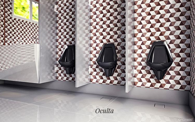 Ralo Linear Banheiro 15x15cm Elleve - linha Square