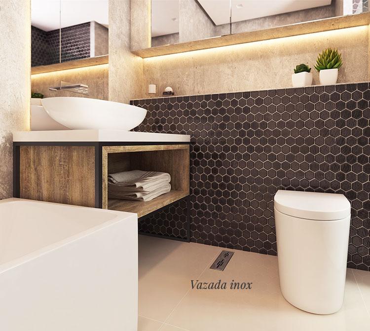 Ralo Linear Banheiro 25cm Elleve - linha Tiny
