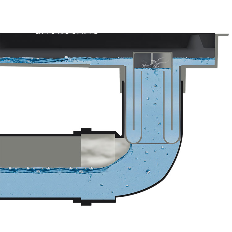 Sifão para Ralo Linear com Saída de 50mm