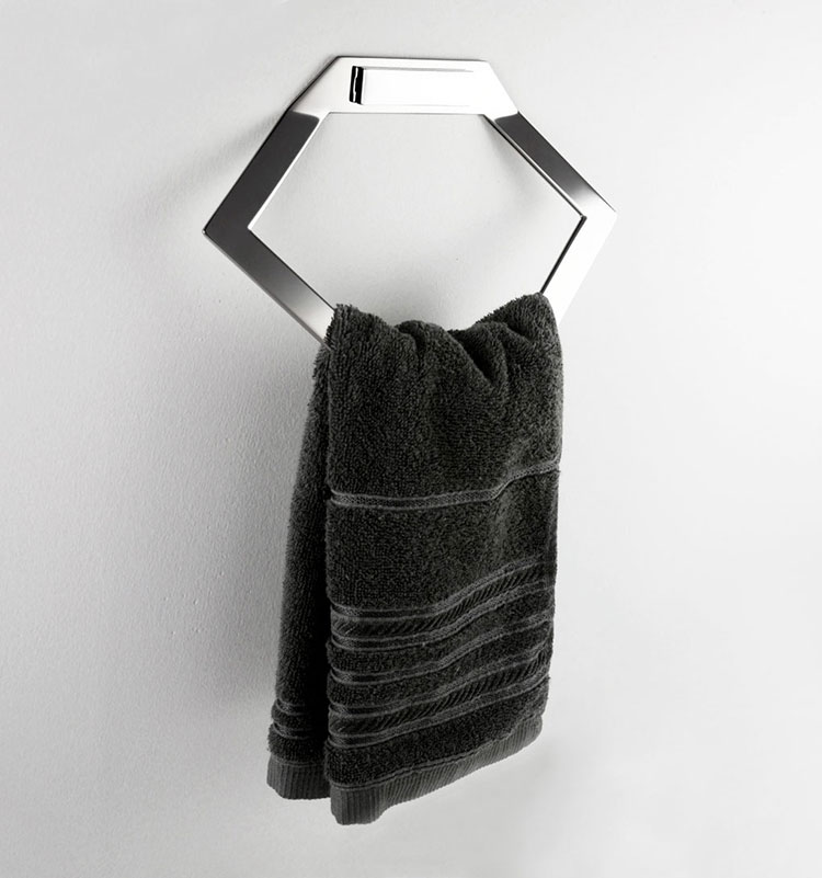Toalheiro Argola Elemento para Banheiros e Lavabos