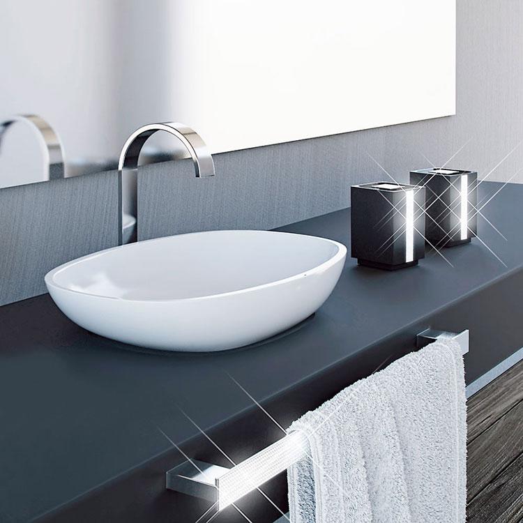 Toalheiro Simples Glam para Banheiros e Lavabos