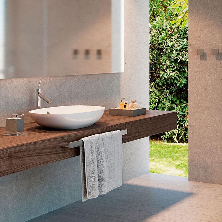 Toalheiro Simples Oriente Stone para Banheiros e Lavabos