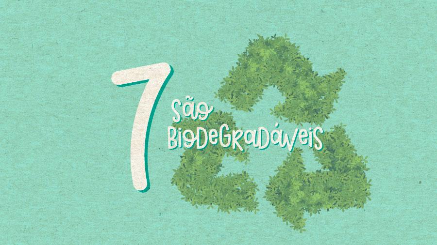 São biodegradáveis