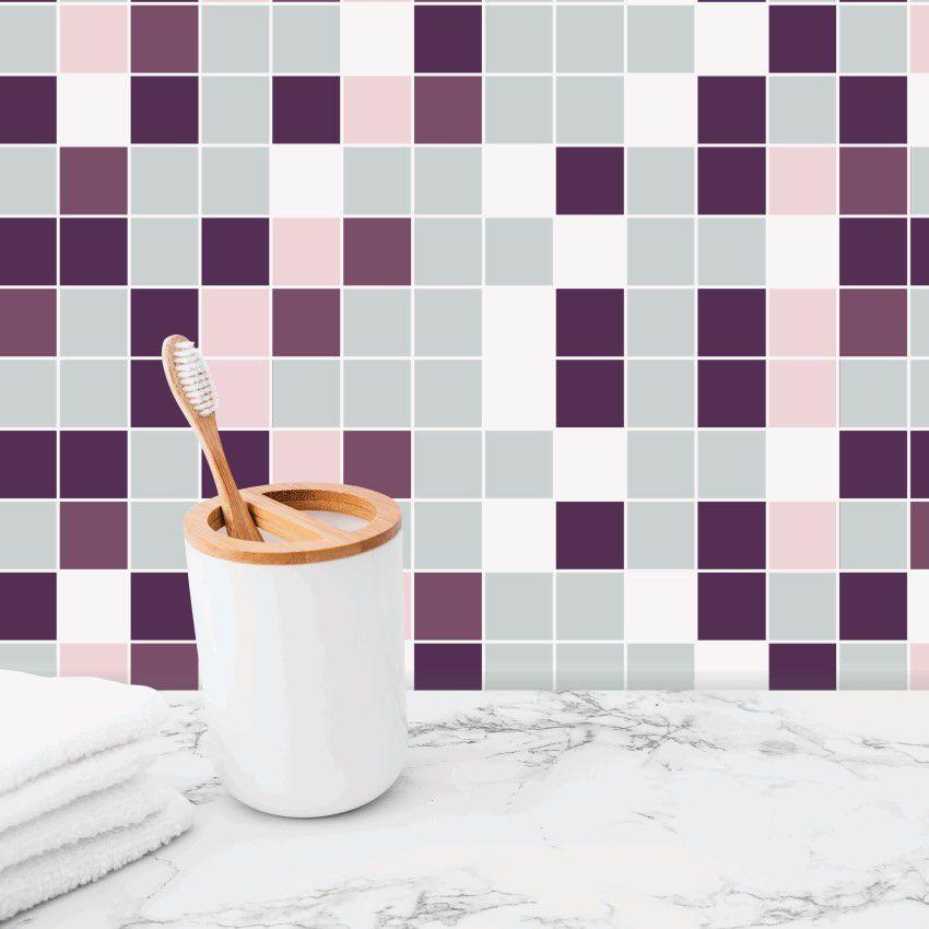 Papel de parede adesivo lavável para banheiro