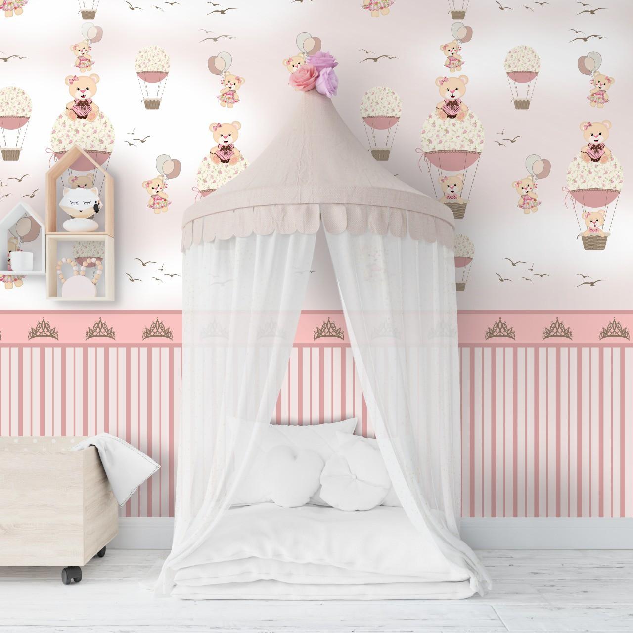 Papel de parede lavável para quarto infantil