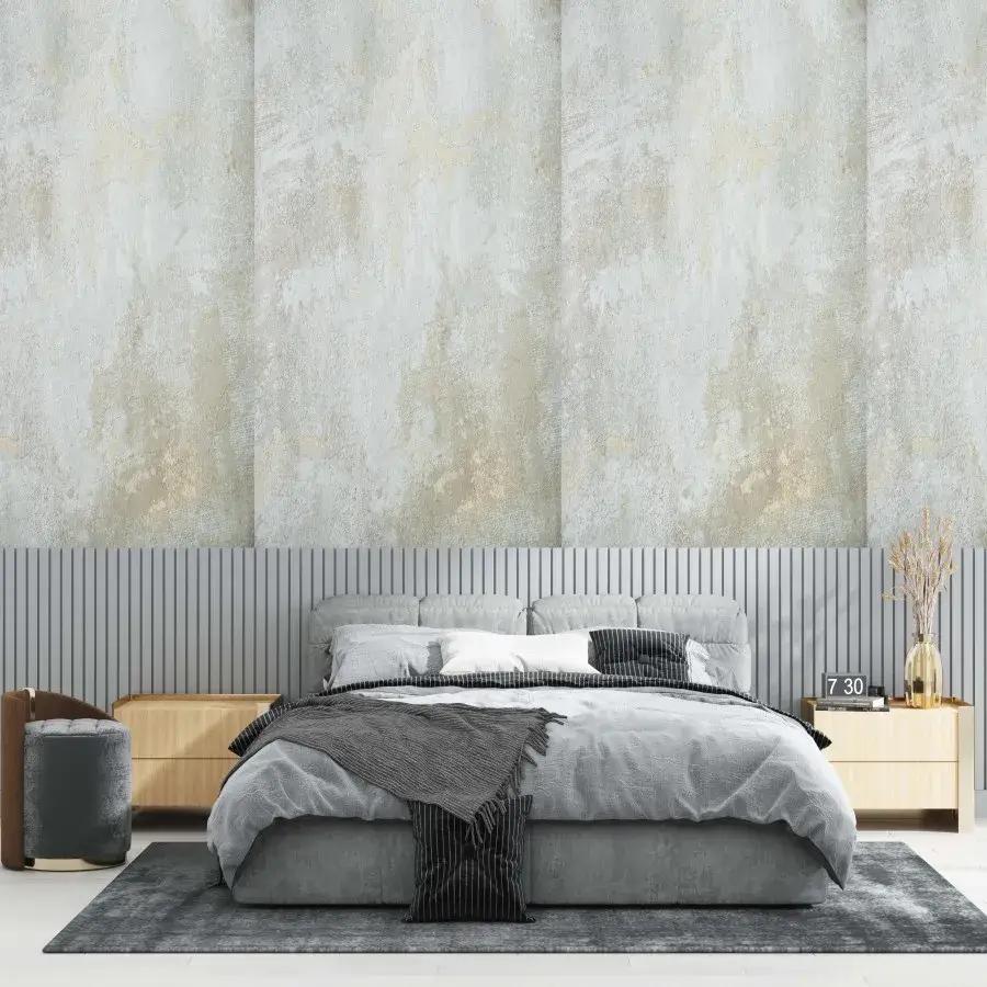 Papel de Parede Lavável Cimento Queimado quarto de casal
