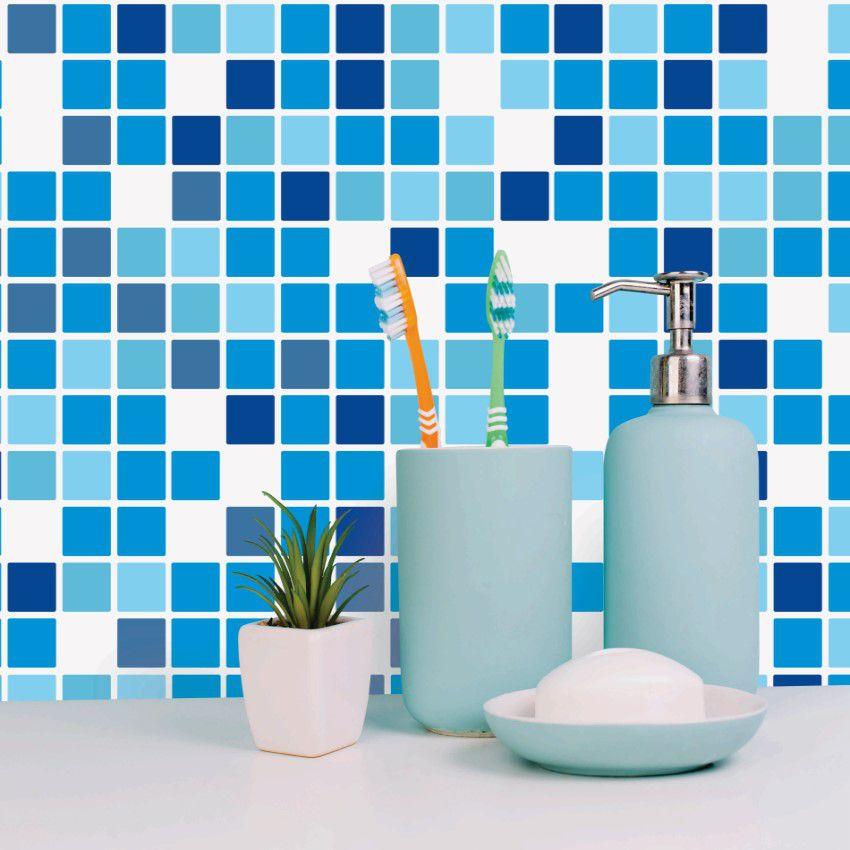 Papel de Parede Para Banheiro Pastilha CO-503