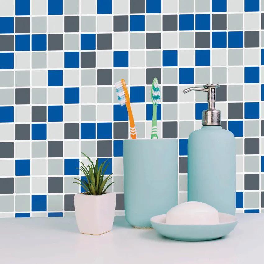 Papel de Parede Para Banheiro Pastilha CO-509 Impermeável
