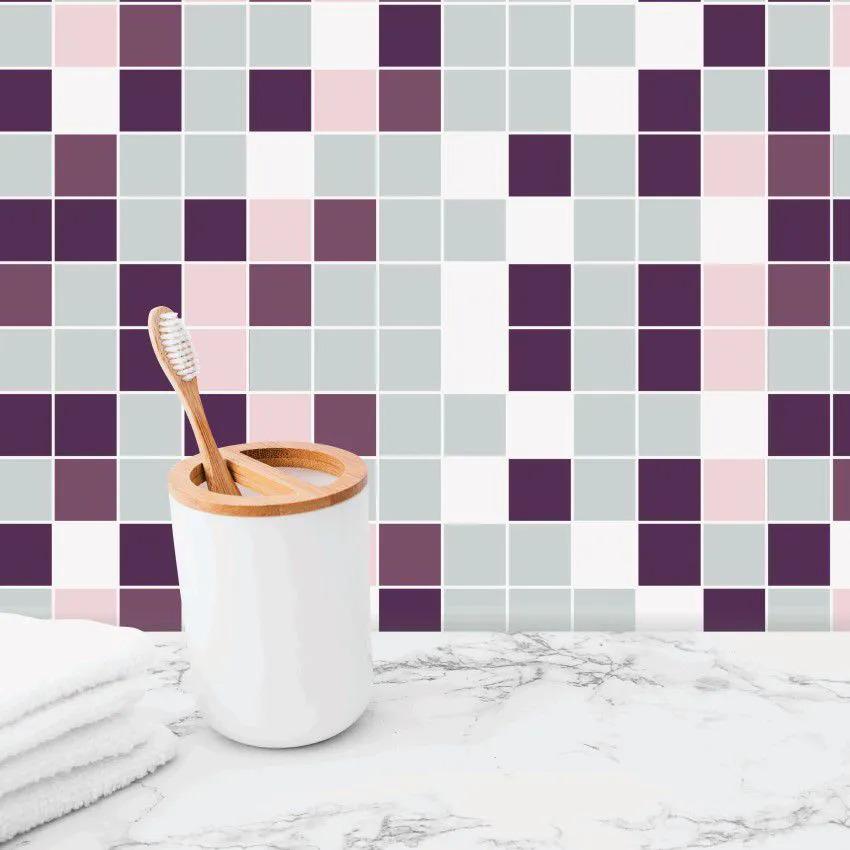 Papel de Parede Para Banheiro Pastilha CO-510 Impermeável