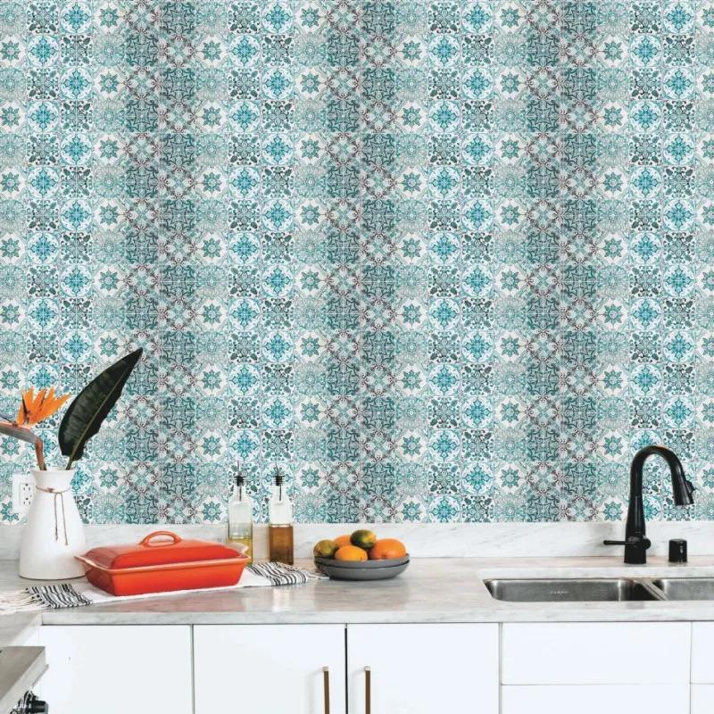 Papel de Parede Para Cozinha Azulejo CO-431 - Cole Aí