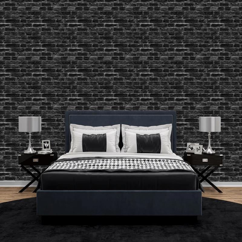 Papel de parede tijolinho preto
