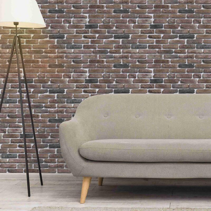 Papel de parede marrom queimado
