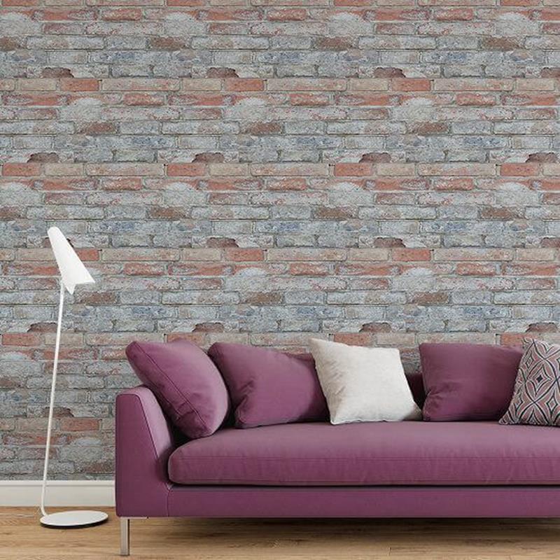 Papel de parede tijolinho envelhecido