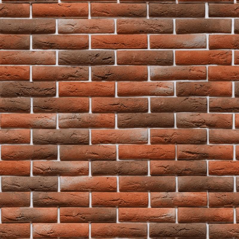 Papel de parede tijolinho vermelho