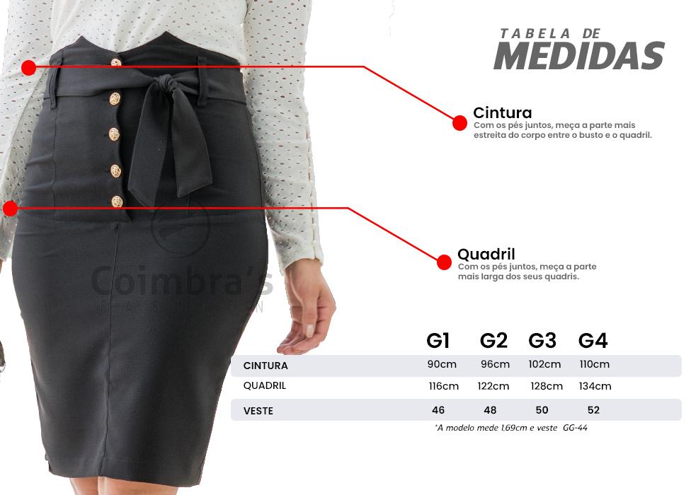 Saia Plus Size moda Evangélica e moda Executiva
