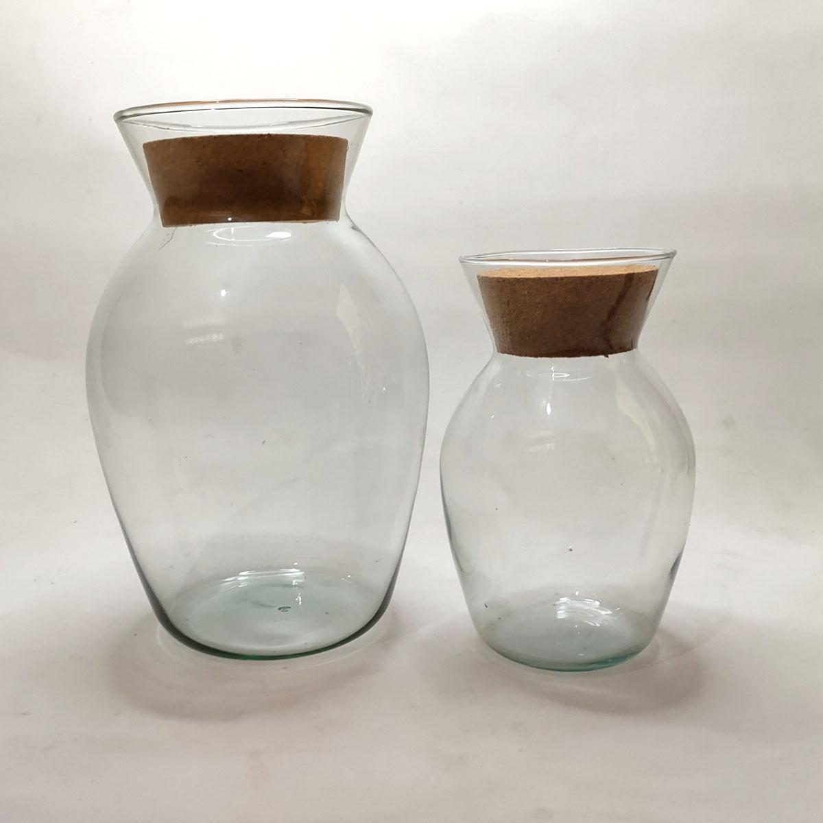 Vaso de Vidro Haiti Com Rolha