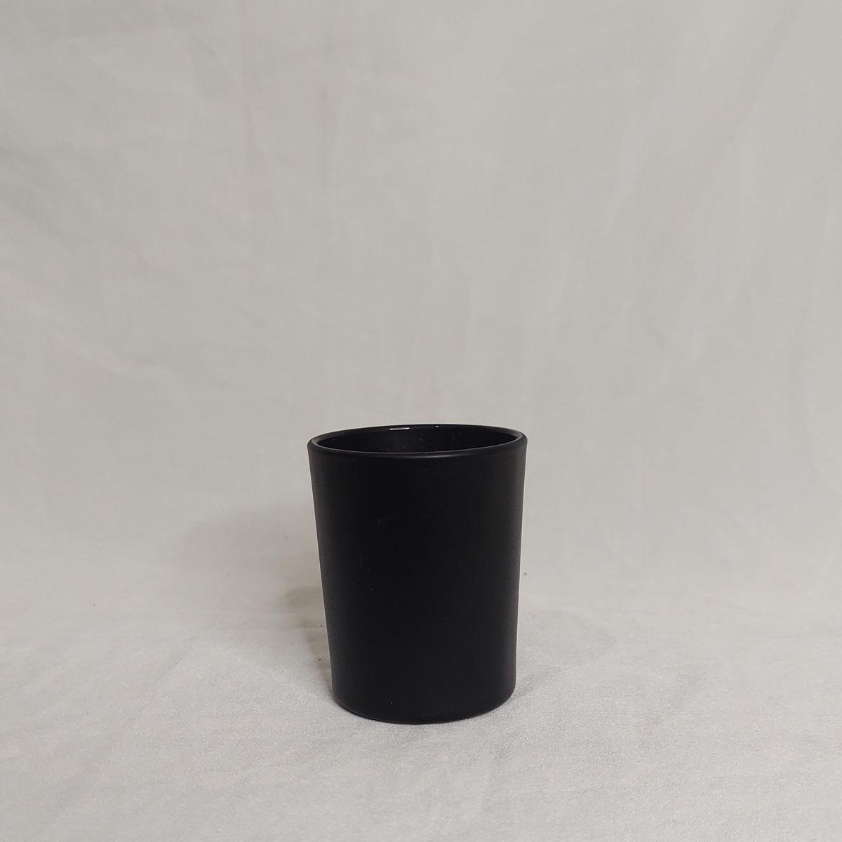 Copo de Vidro Para Vela 70 ml Preto - 6 unidades