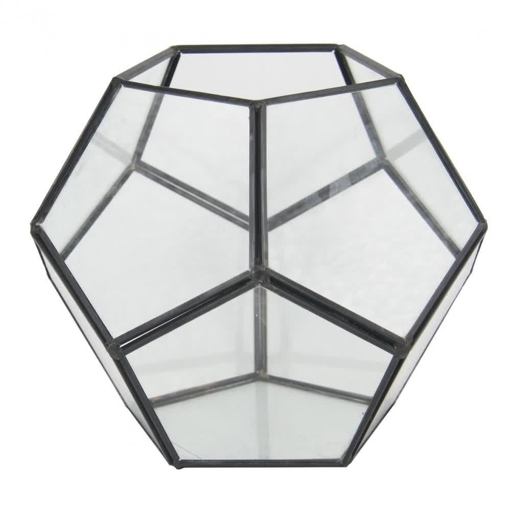 Vaso de Vidro Geométrico 7005TG para Terrário