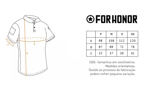 Camisa Polo com Velcro ID FORHONOR - Black - Bazar do Airsoft