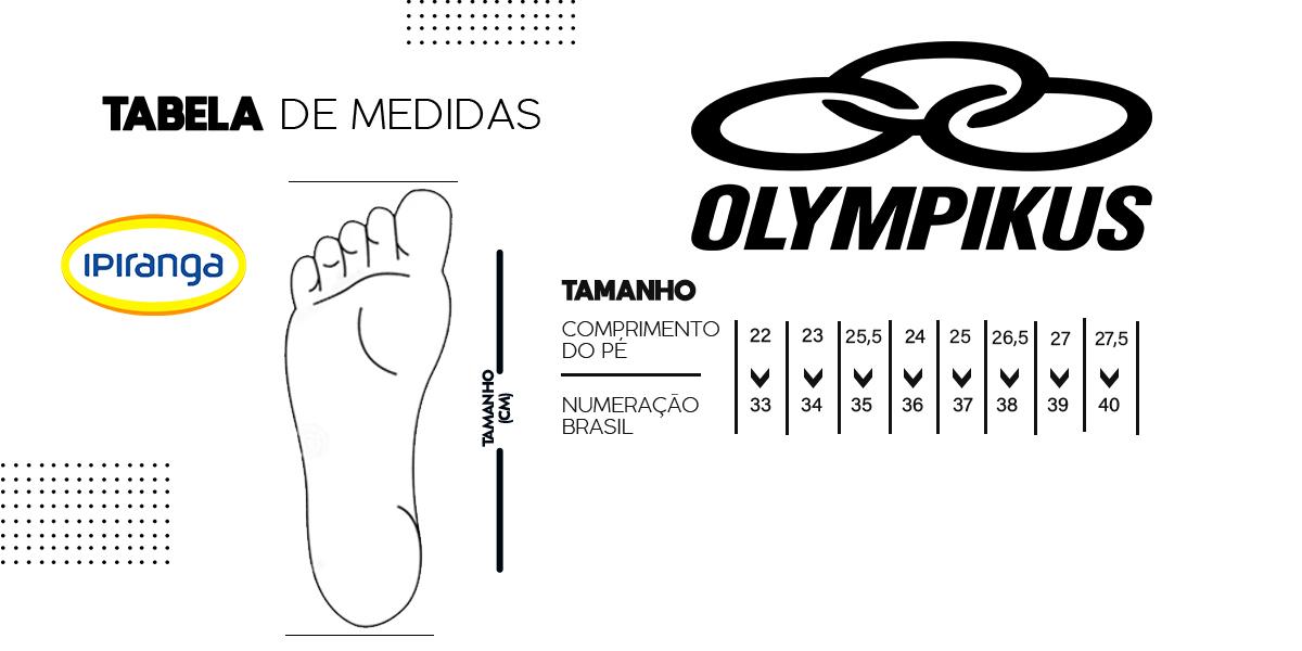 tabela de medidas olympikus