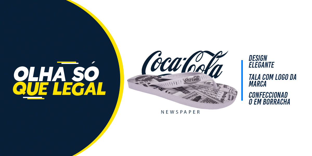 chinelo coca