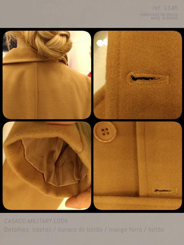 casaco caramelo com forro na cor do casaco