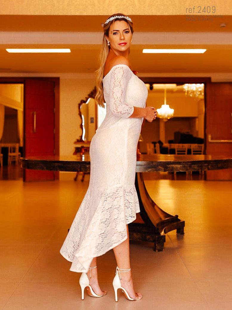 vestido branco para casamento civil