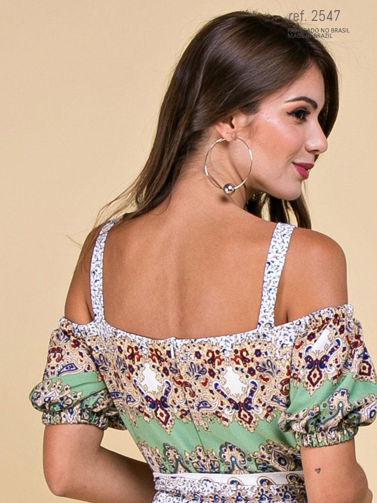 vestido ombro a ombro midi
