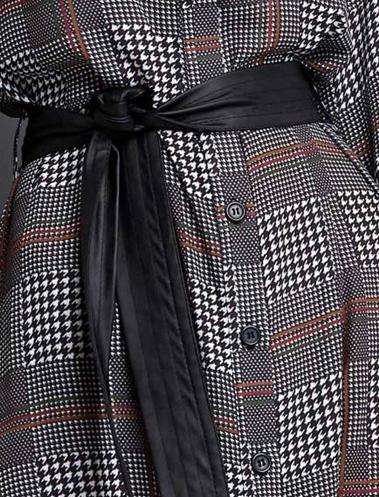 Vestido midi estampado tipo camisa com botões, amarração no cinto, super oferta