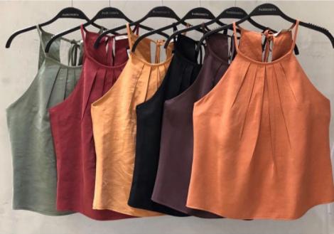 regata feminina fashion diversas cores