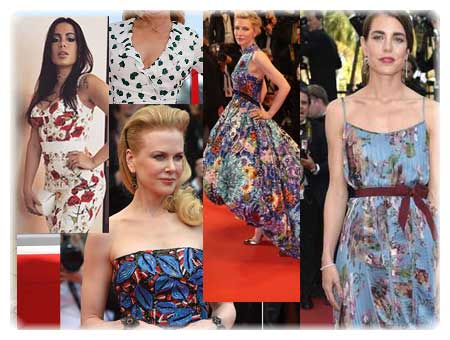 vestido estampado é a preferida pelas famosas