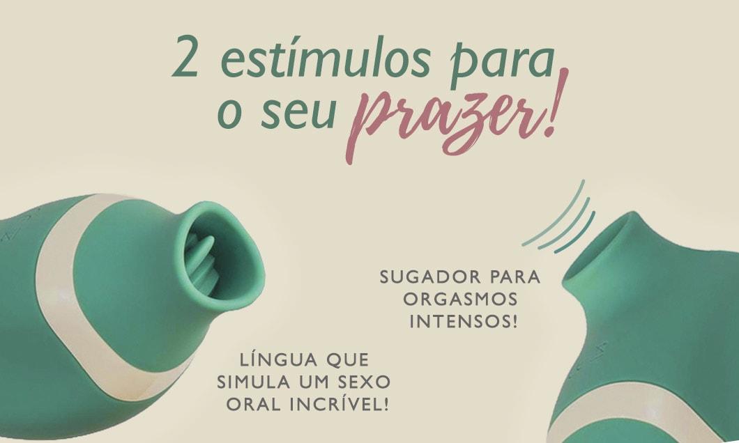 Sensevibe Lick possui dois estímulos: sugador de clitóris e vibrador de linguinha