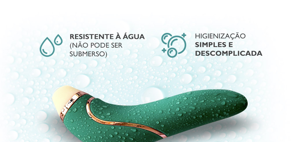 Sensevibe Plus é resistente à água
