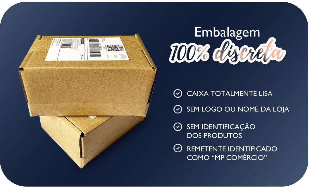 Embalagem 100% discreta
